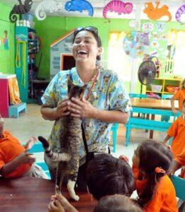 1 Sunset Beach-SAGA cat in school