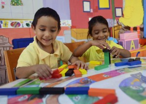 Kids with blocks