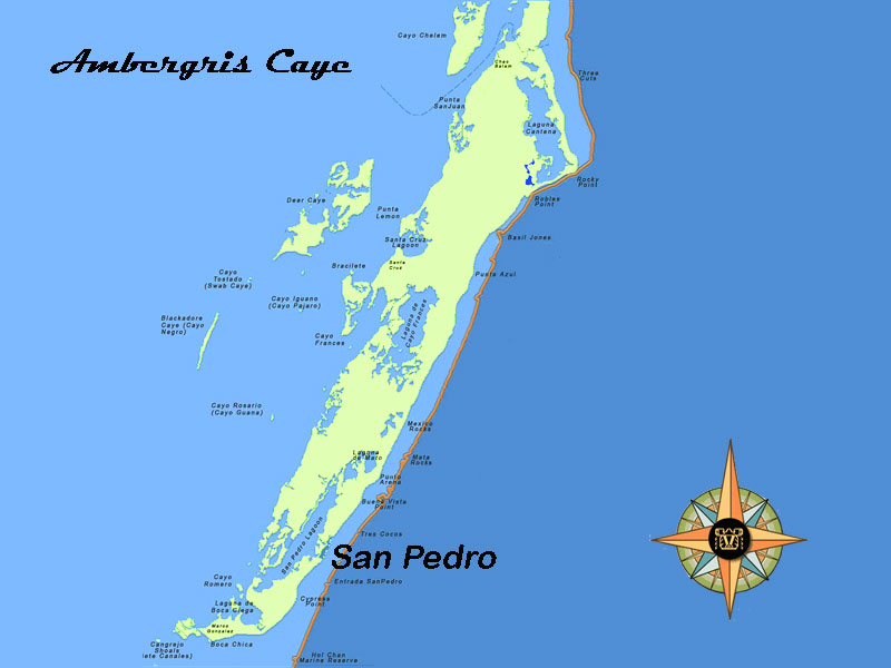 map-ambergris-caye-belize