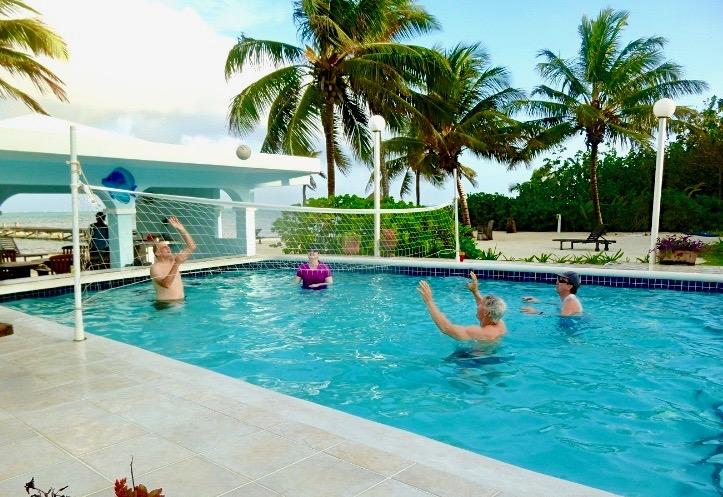 Pool Volleyball Sunset Beach Resort Ambergris Caye Belize