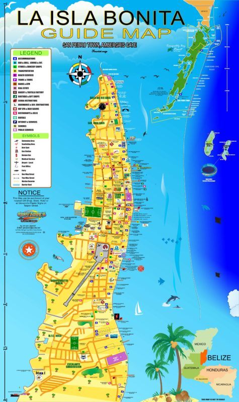 ambergris caye belize map New Portrait Map 2014 Cdr Final Cdr Vacation Rentals Ambergris ambergris caye belize map
